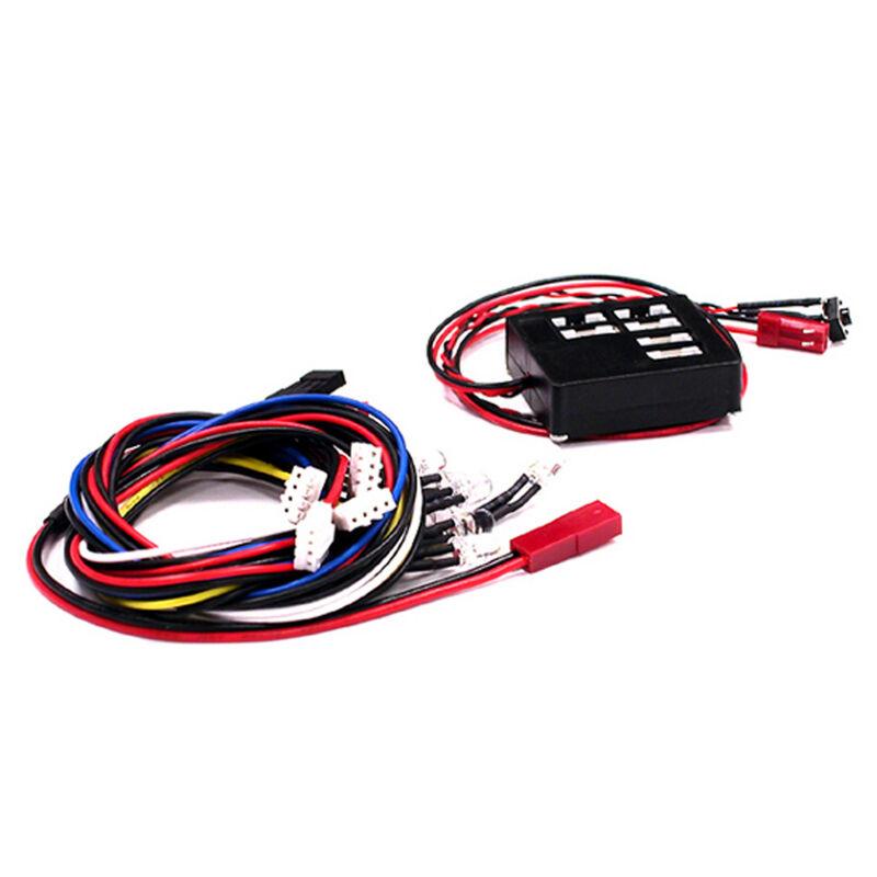 8 LED Flashing Kit w/ Multi Flash Mode Ctrl Box
