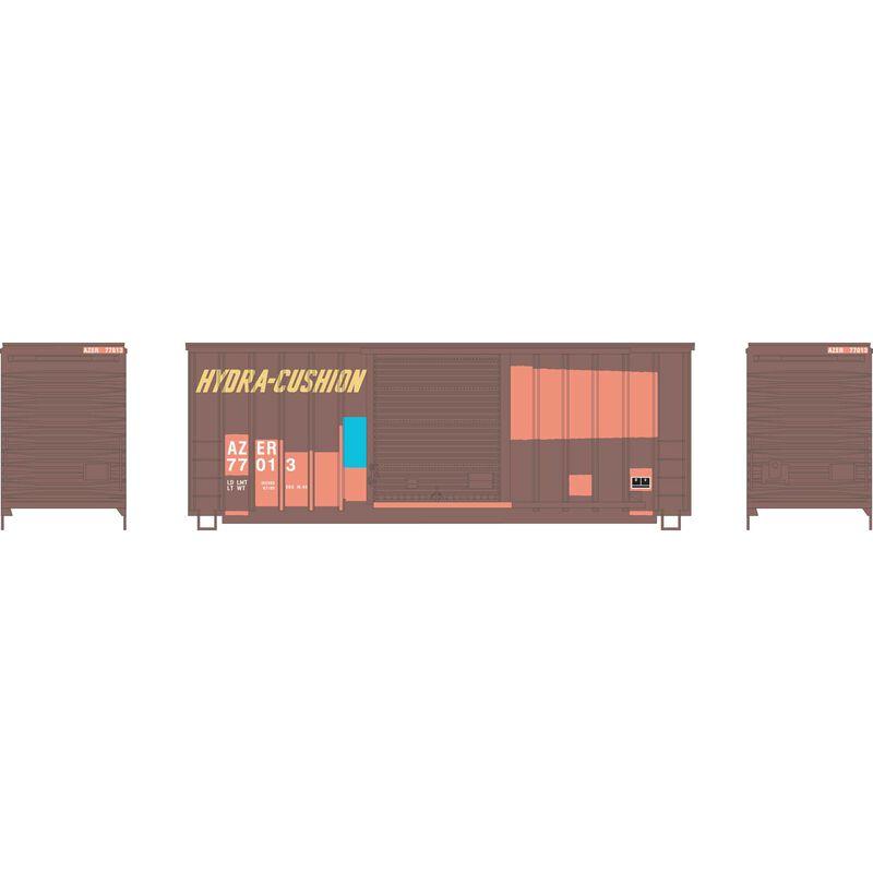 HO 40' High Cube Outside Braced Box, AZER #77013