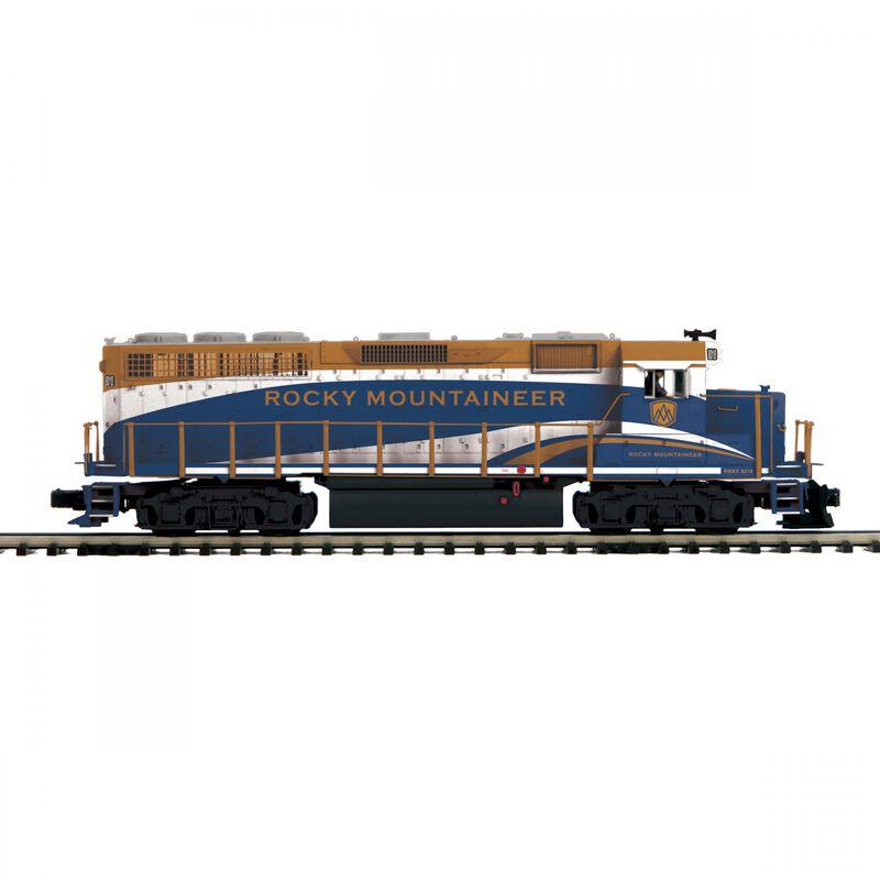 O Hi-Rail GP-40 with PS3 Rocky Mountaineer #8018