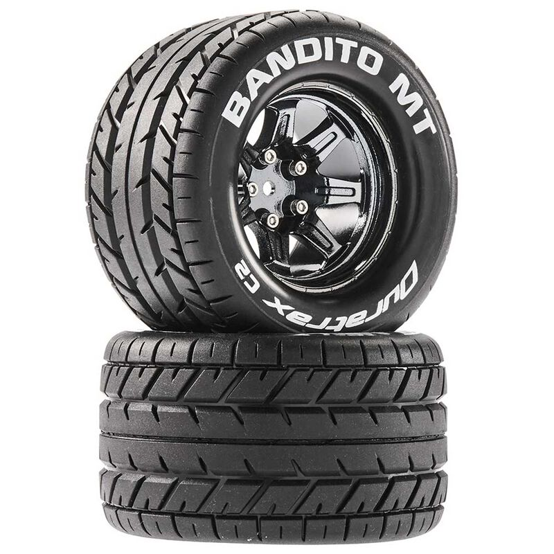 Bandito MT 2.8 Mounted Tires, Chrome 14mm Hex(2)