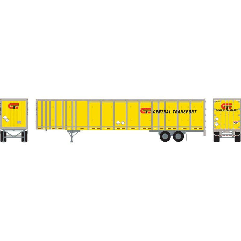 HO RTR 53'Wabash Plate Trailer Central Transport#1