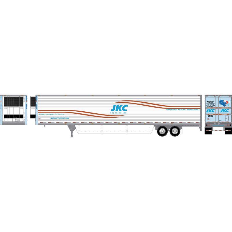 HO RTR 53' Utility Reefer Trailer JKC Trucking#2032