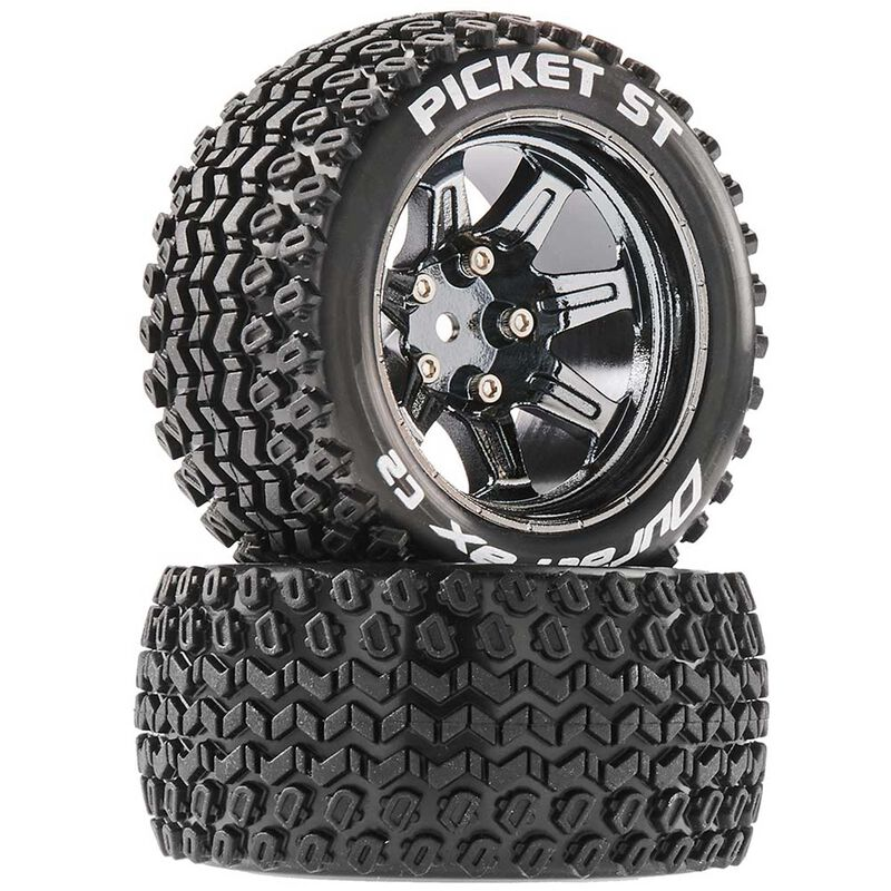 Picket ST 2.8 Mounted Tires, Chrome 14mm Hex (2)