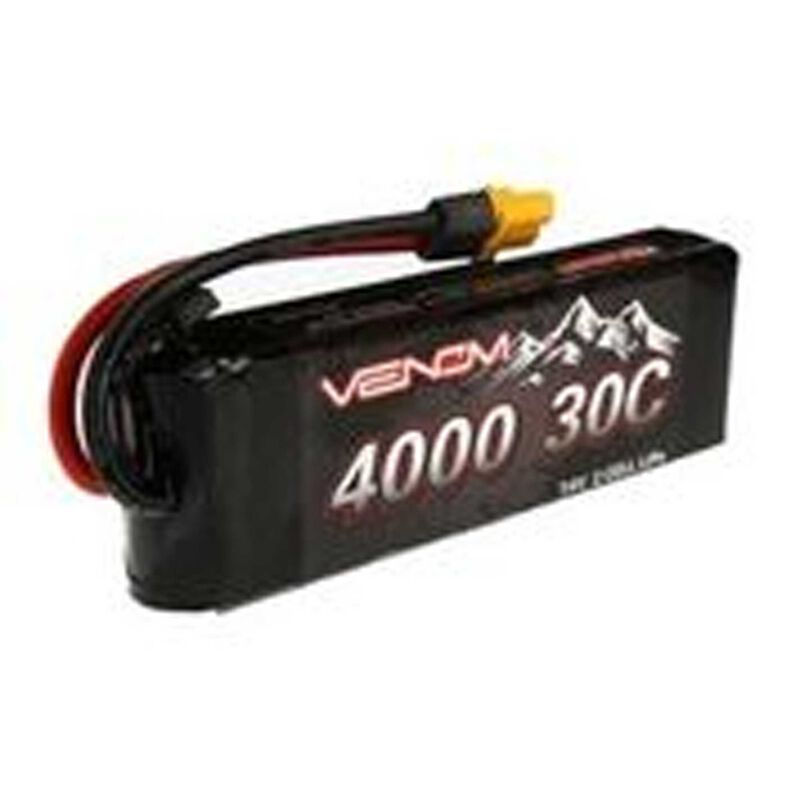 7.4V 4000mAh 2S 30C Rock Crawler LiPo Battery: UNI 2.0 Plug