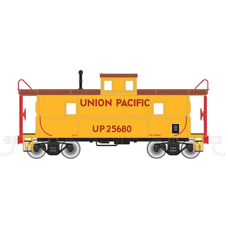 HO Trainman Cupola Caboose UP #25625