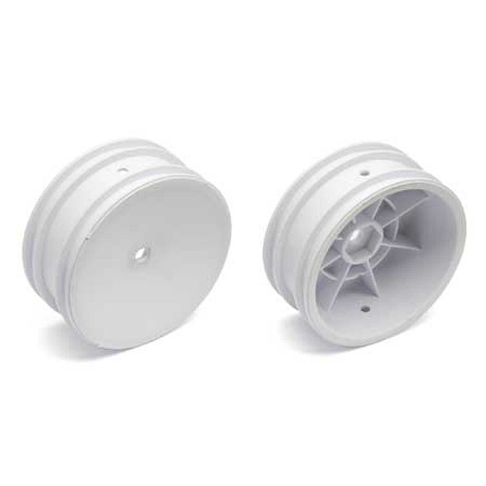 1/10 Front 12mm Hex Wheels, White (2): Buggy