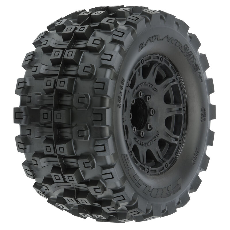 "Badlands MX38 HP 3.8"" Belted & Mounted Raid Tires, 8x32 17mm F/R"