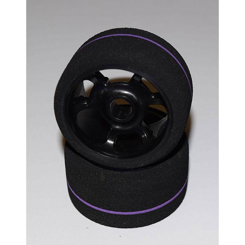 1/12 Spec Tire, Front Mounted Wheel, Team Purple (2)