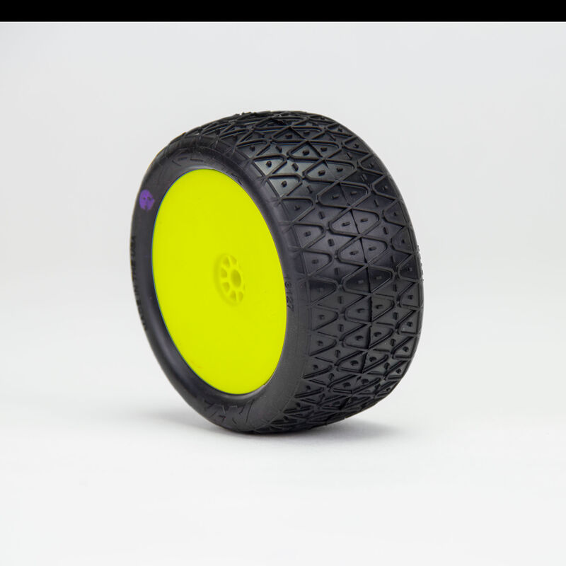 1/10 Crosslink 2.2 Clay Rear Wheel Mounted, Yellow: Buggy (2)