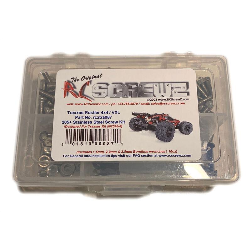 Stainless Steel Screw Kit: TRAXXAS Rustler 4x4 VXL