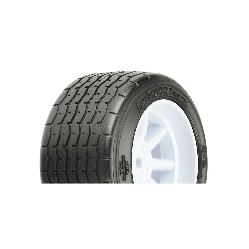 VTA Rear Tire 31mm Mounted White Wheel