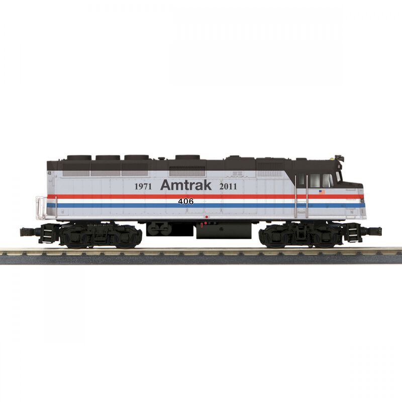 O-27 F40 with PS3 Amtrak #406