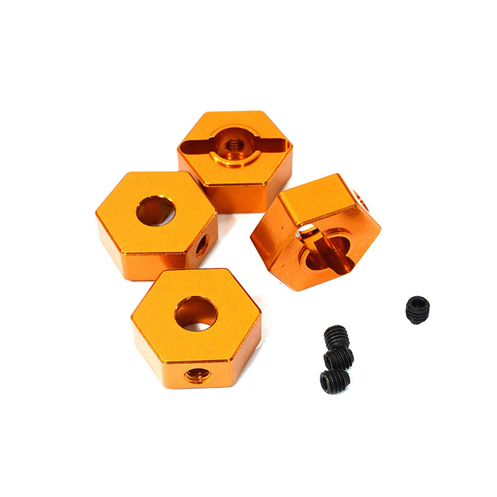 Wheel Hex, Orange (4): ARRMA 1/10 GRANITE 4x4 3S BLX