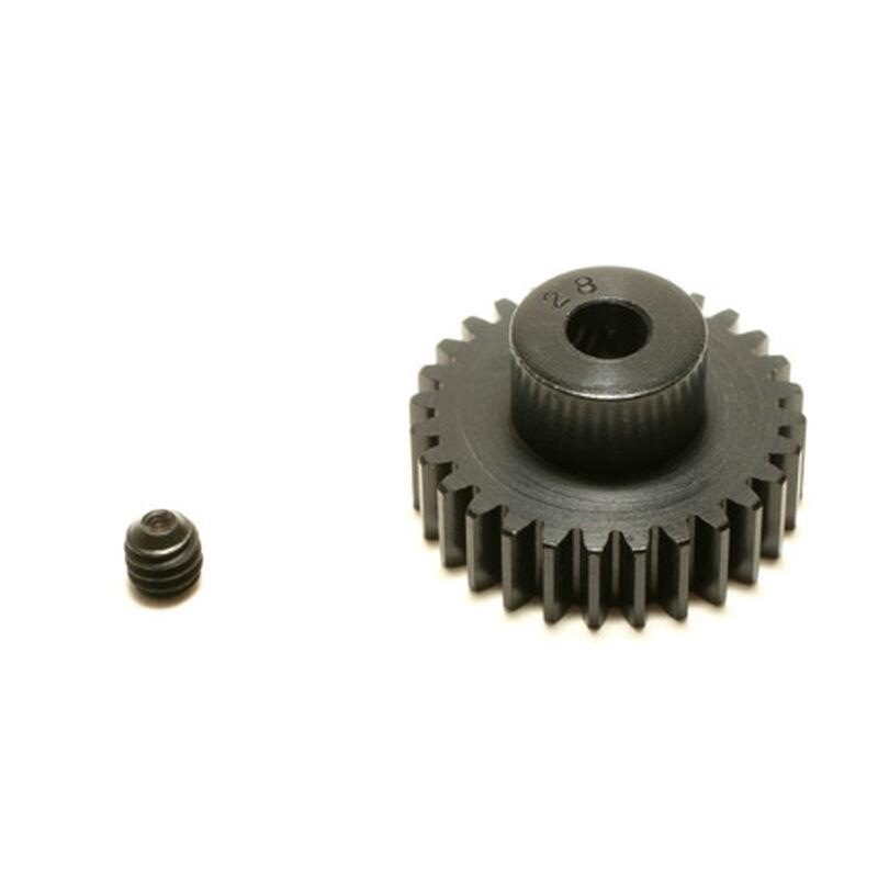 48P Hard Coated Aluminum Pinion Gear, 28T