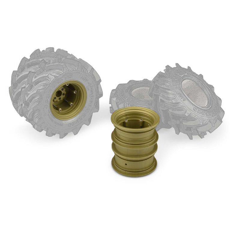 Krimson Dually 2.6 Dual Wheels with Adapters, Gold/Olive (2)