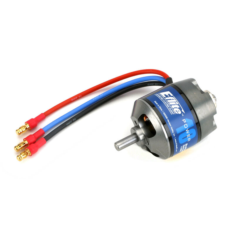 Power 10 Brushless Outrunner Motor, 1100Kv: 3.5mm Bullet