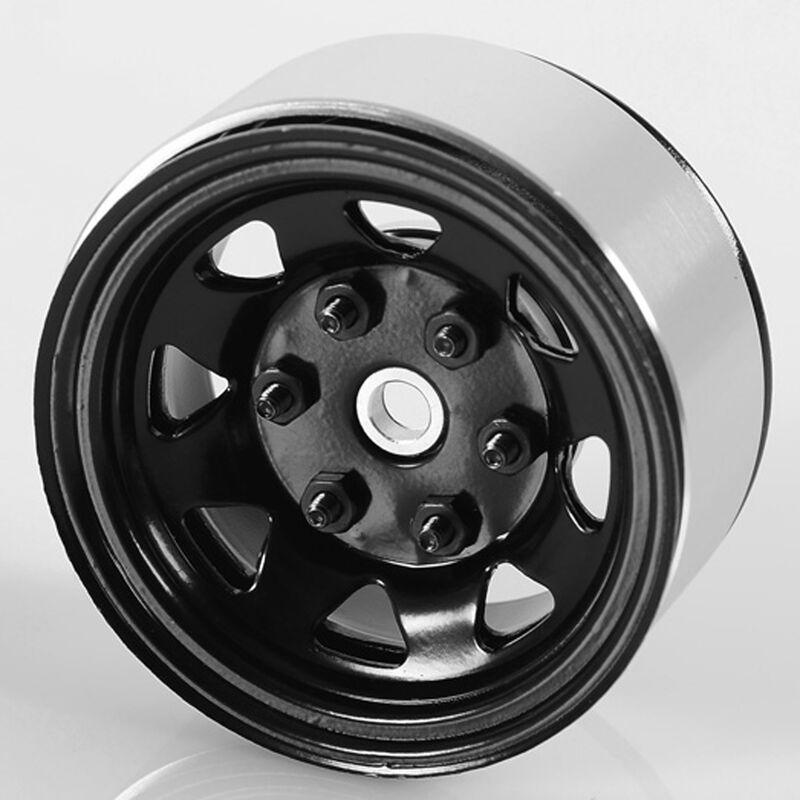 1.55 Stamped Steel Beadlock Wheel Black