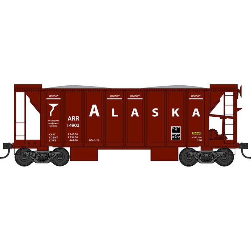 HO 70 Ton 2 Ballast Car w/ Side Chutes, AR 14903