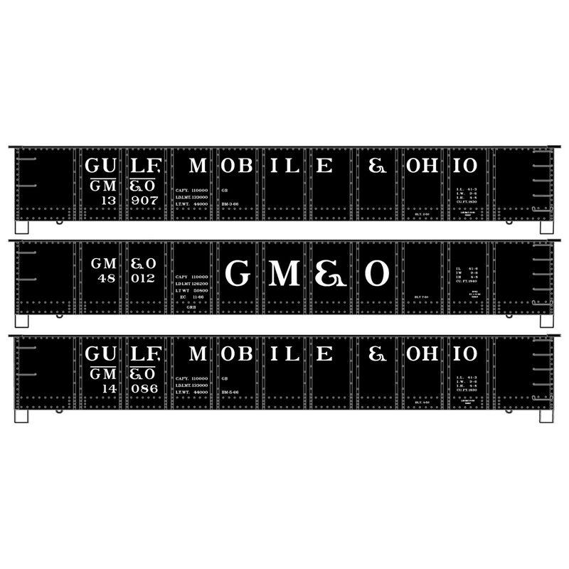 HO Steel Gondola GM&O (3-Car Set)