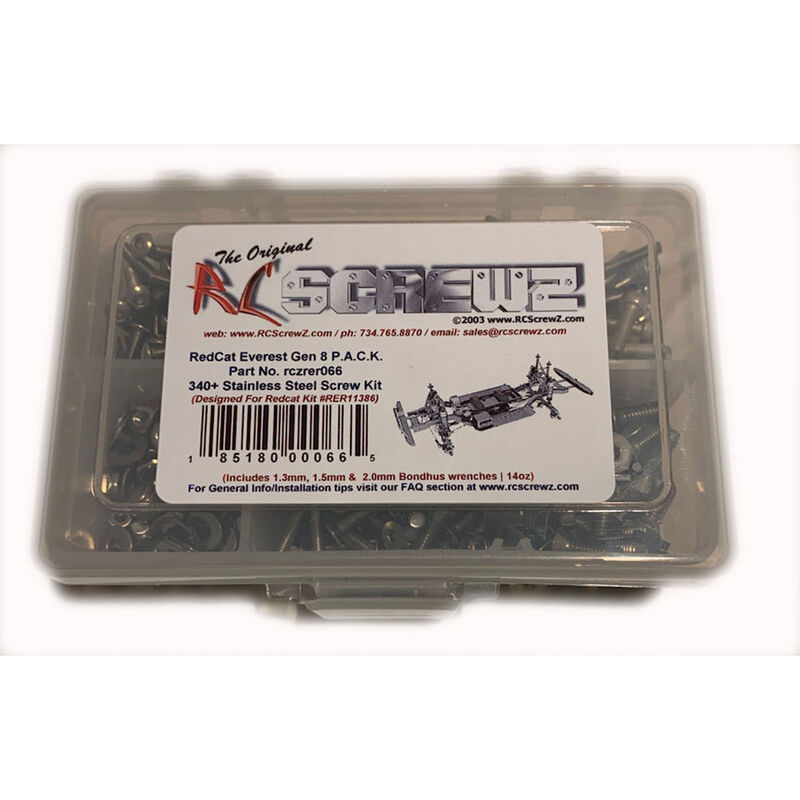 Stainless Steel Screw Kit: Redcat Gen8 PACK