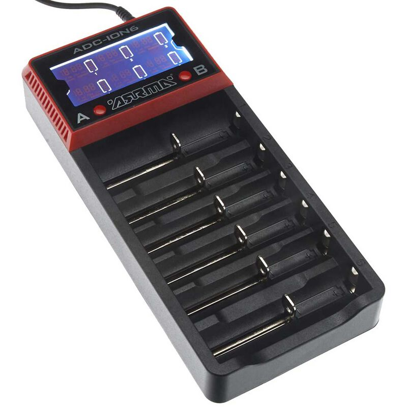 AR390262 18650 Li-Ion 6-Bay Battery Charger