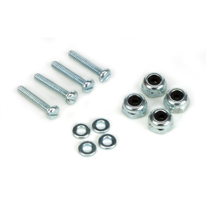 Bolt & Lock Nut Set (4), 2-56 x 1/2""