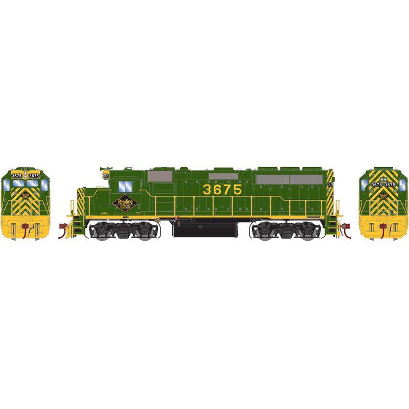 HO GP40-2 RDG #3675