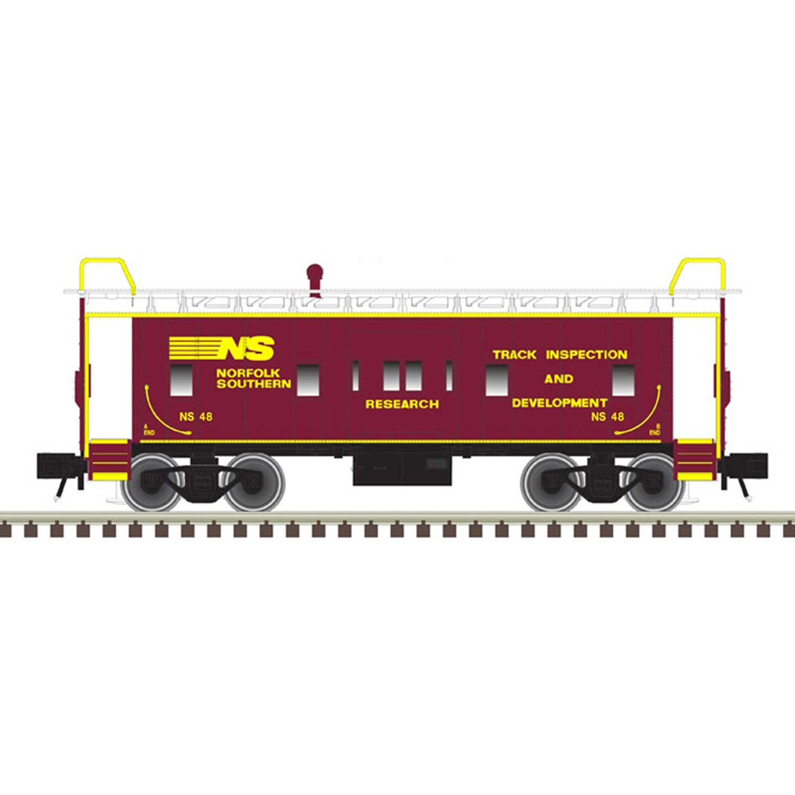 O Bay Window Caboose Norfolk Southern Research 48