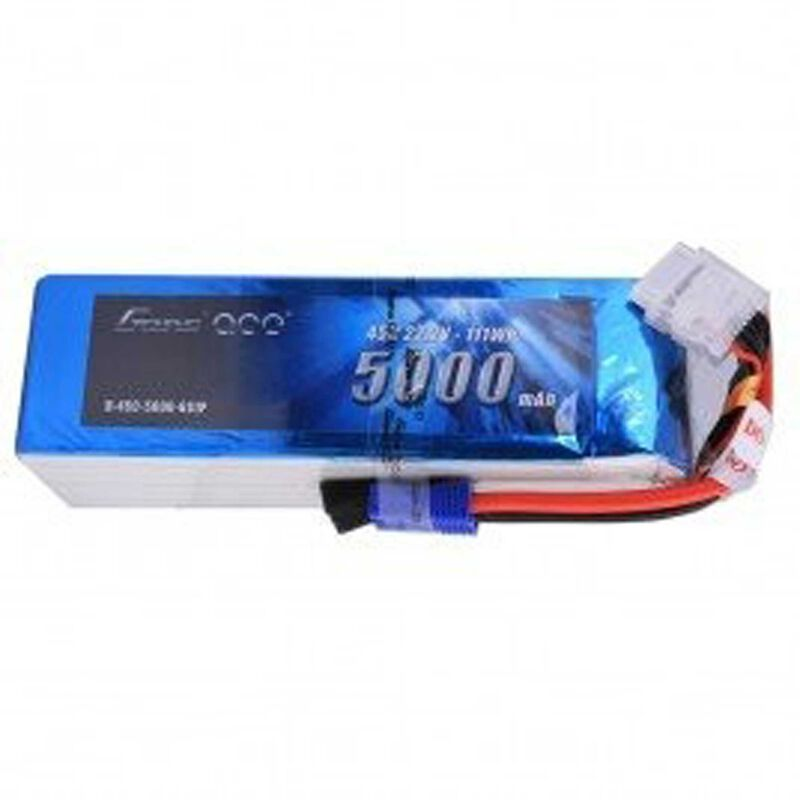 22.2V 5000 Capacity 6S Voltage 45C LiPo, EC5