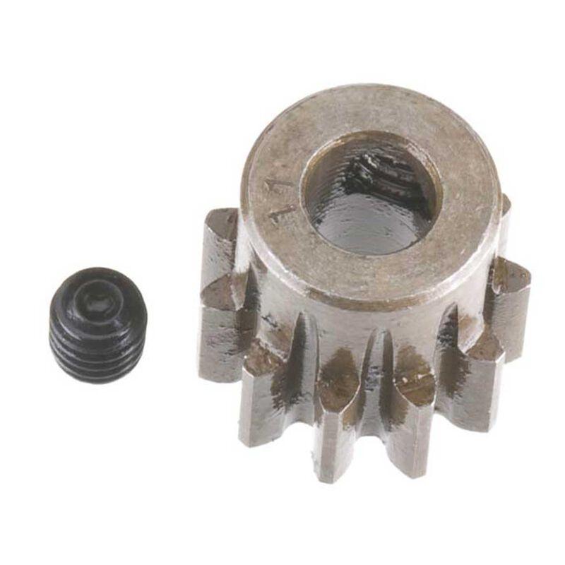 Extra Hard Steel 5mm Bore 1 Module Pinion, 11T