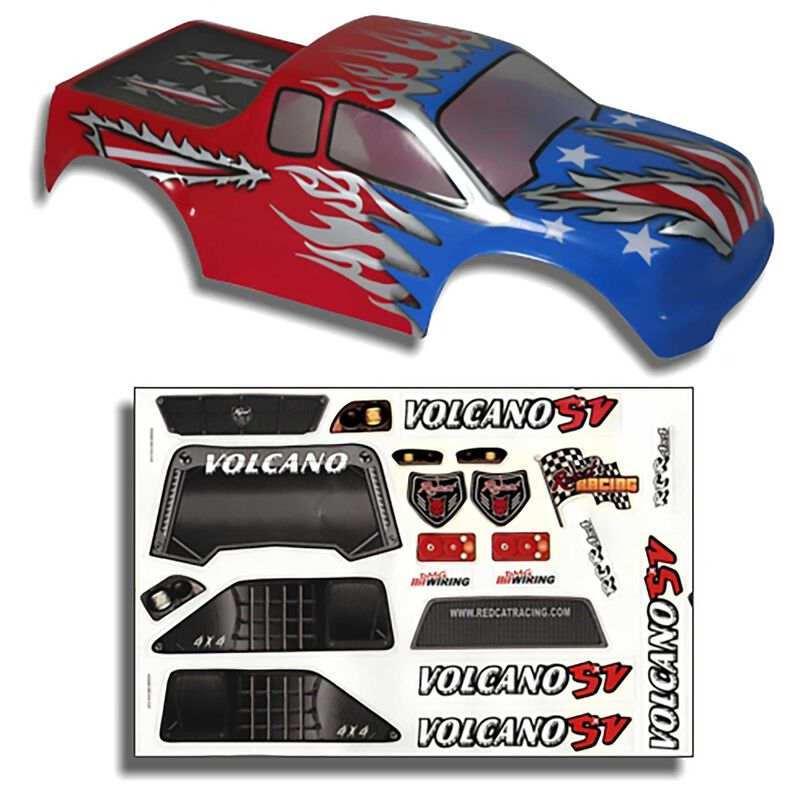 1/10 Painted Truck Body, Red, White and Blue: Volcano