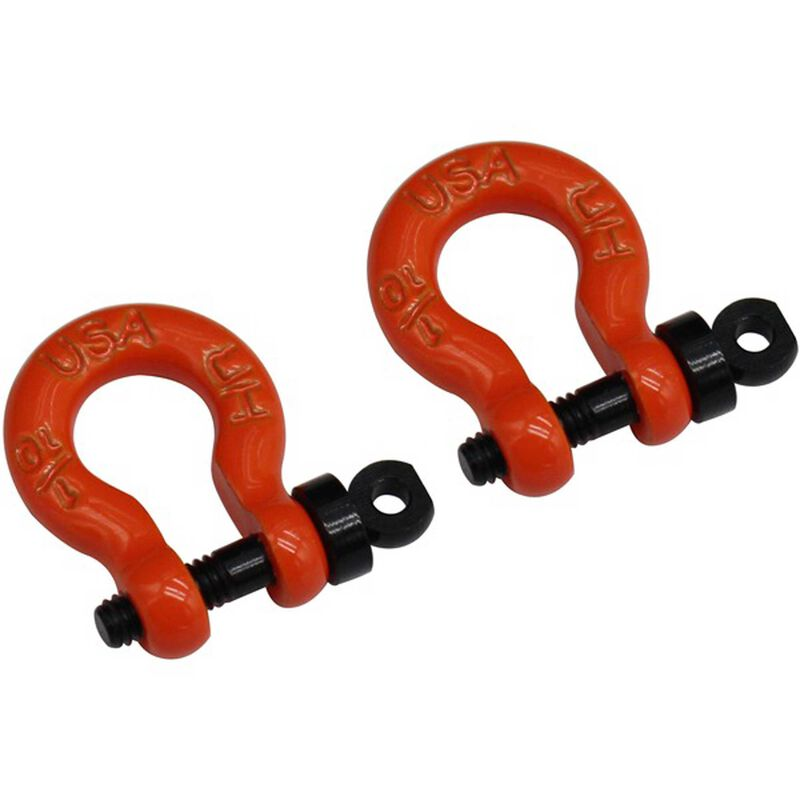 1/10 Scale Orange Tow Shackle D-Rings: Redcat Gen8
