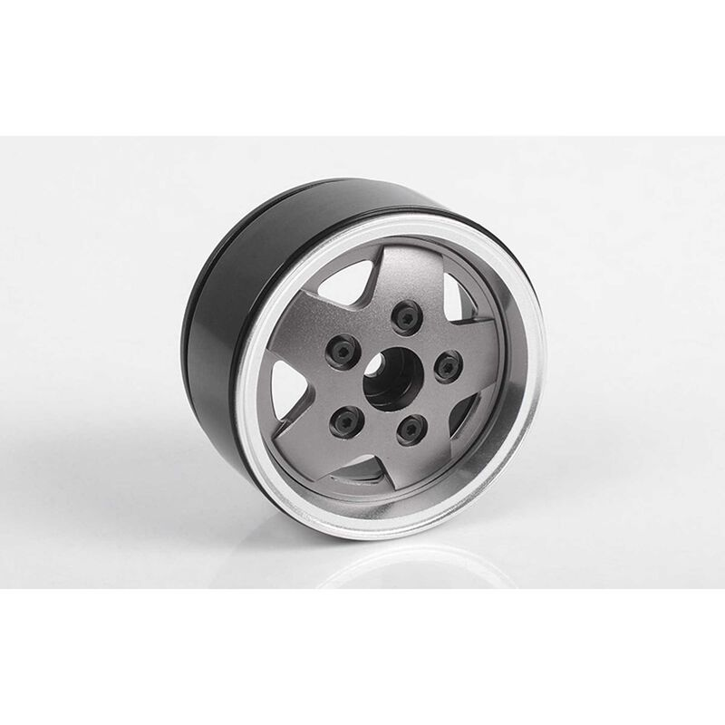 1/10 Dome Spoked 1.9 Front/Rear Classic Crawler Beadlock Wheels, 12mm Hex, Aluminum (4)