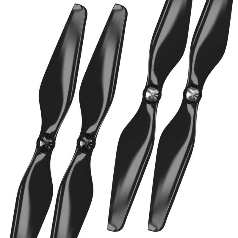 9.4 x 5 MR-AU Prop C Set, Black (4): AUTEL X-Star