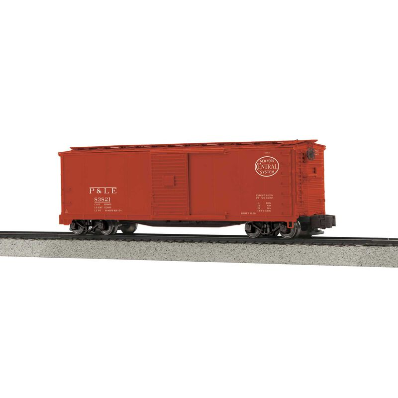 Rebuilt Steel Box Car Hi-Rail Wheels P&LE #83821
