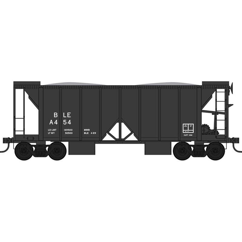 HO 70 Ton 2 Ballast Car w/ Side Chutes, B&LE A454