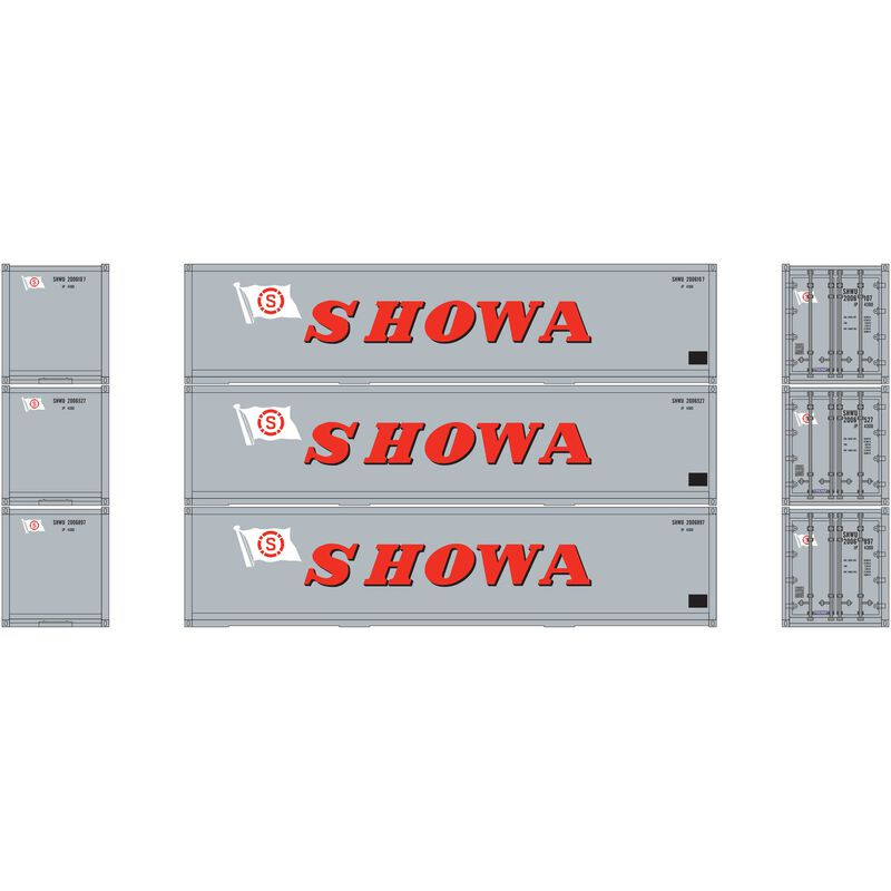 HO RTR 40' Smooth Side Container SHOWA (3)
