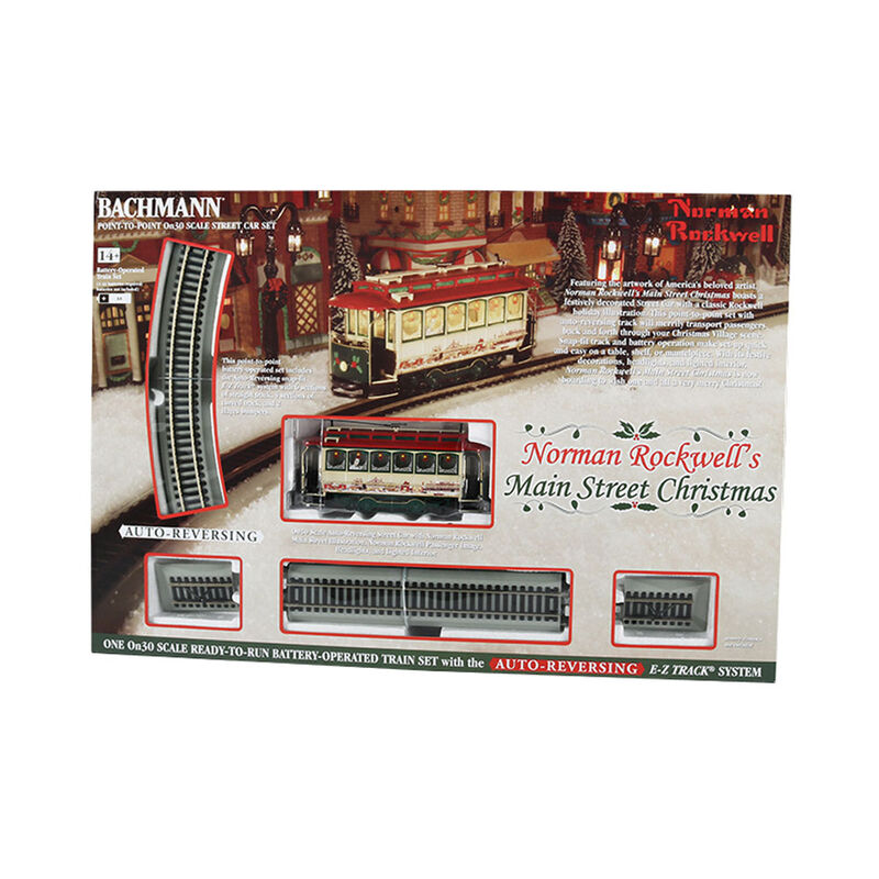 On30 Norman Rockwell Main Street Christmas Set