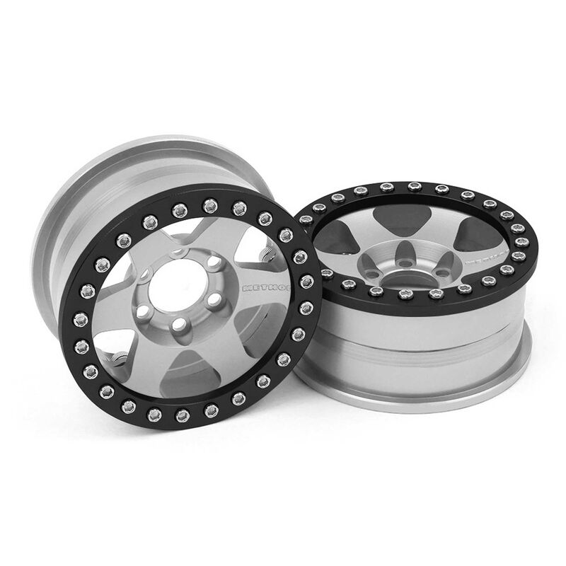 1/10 Method 310 1.9 Race Crawler Wheels, 12mm Hex, Clear Anodized (2)