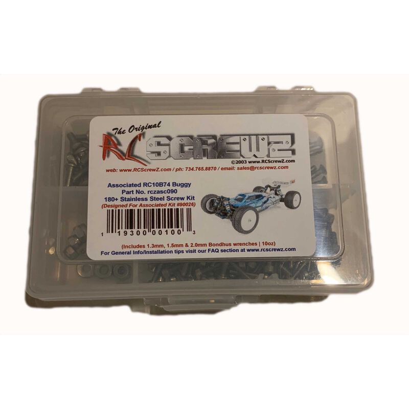 Stainless Screw Kit: Associated 1/10 RC10B74 Buggy
