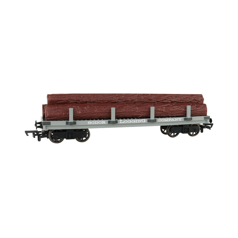 HO Sodor Logging Company Flat Wagon with Logs