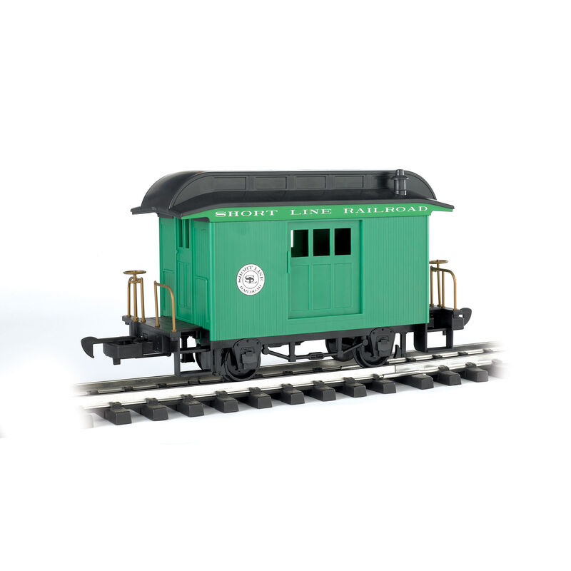 G Li'l Big Haulers Baggage Car, Short Line/Green
