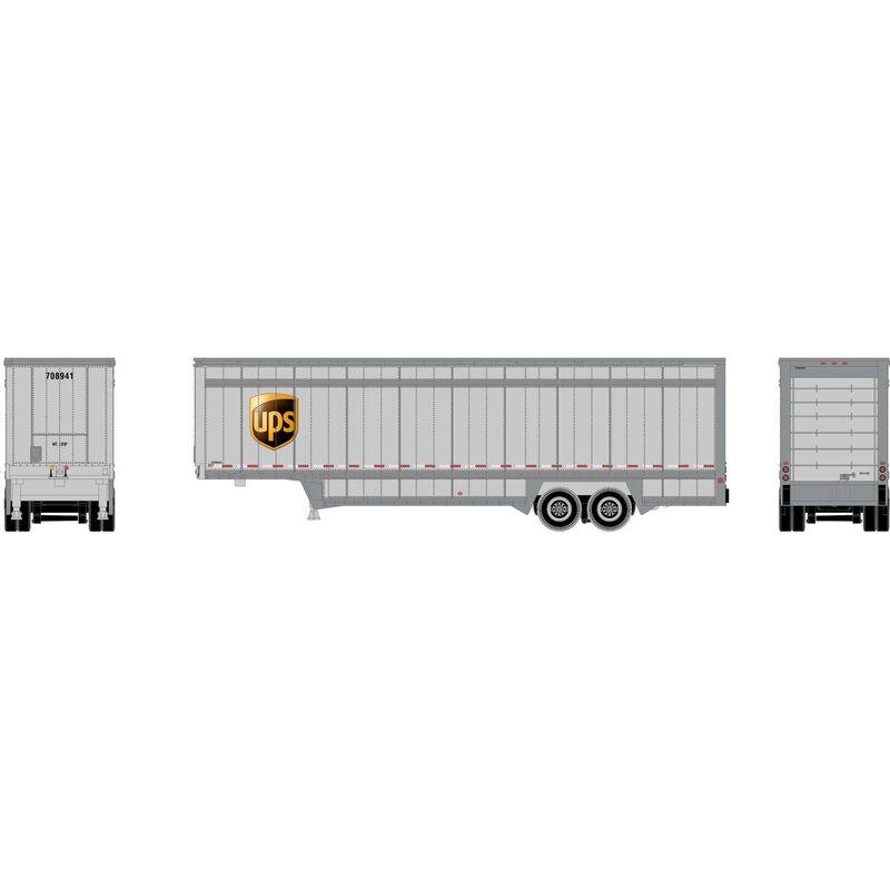 N 40' Drop Sill Parcel Trailer, UPS/Logo #708941