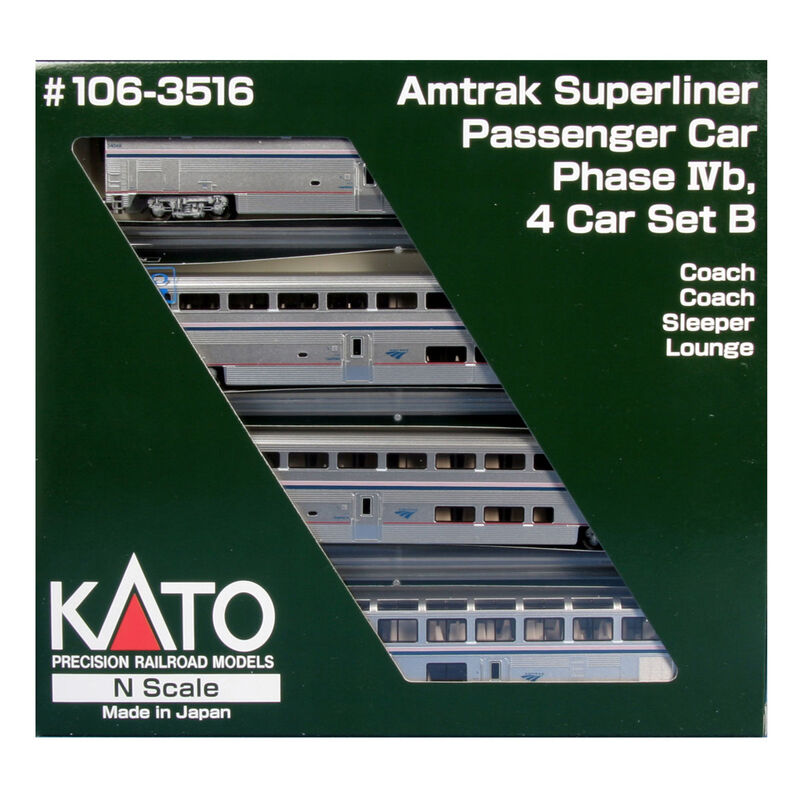 N Superliner Set, Amtrak/Phase IVb B (4)