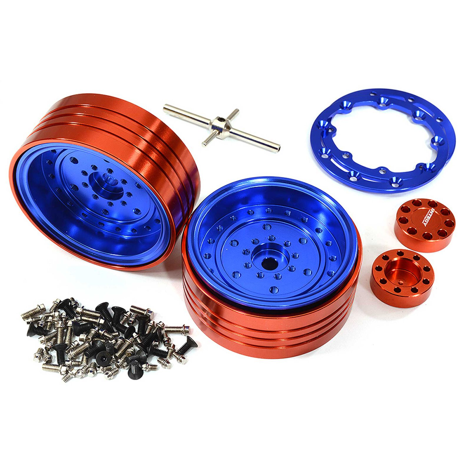 Alloy Beadlock Wheels, Blue: 1/10 Enduro Sendero Blue