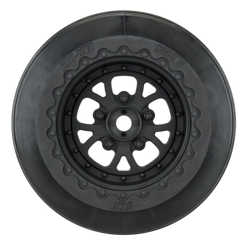 "1/10 Pomona Rear 2.2""/3.0"" Wheels Drag 12mm (2) Black"