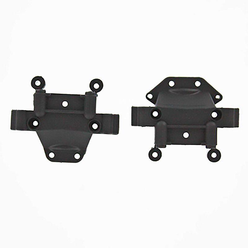 Plastic Front Rear Upper Suspension Arm Mount (2): EQ3.5, Shredder