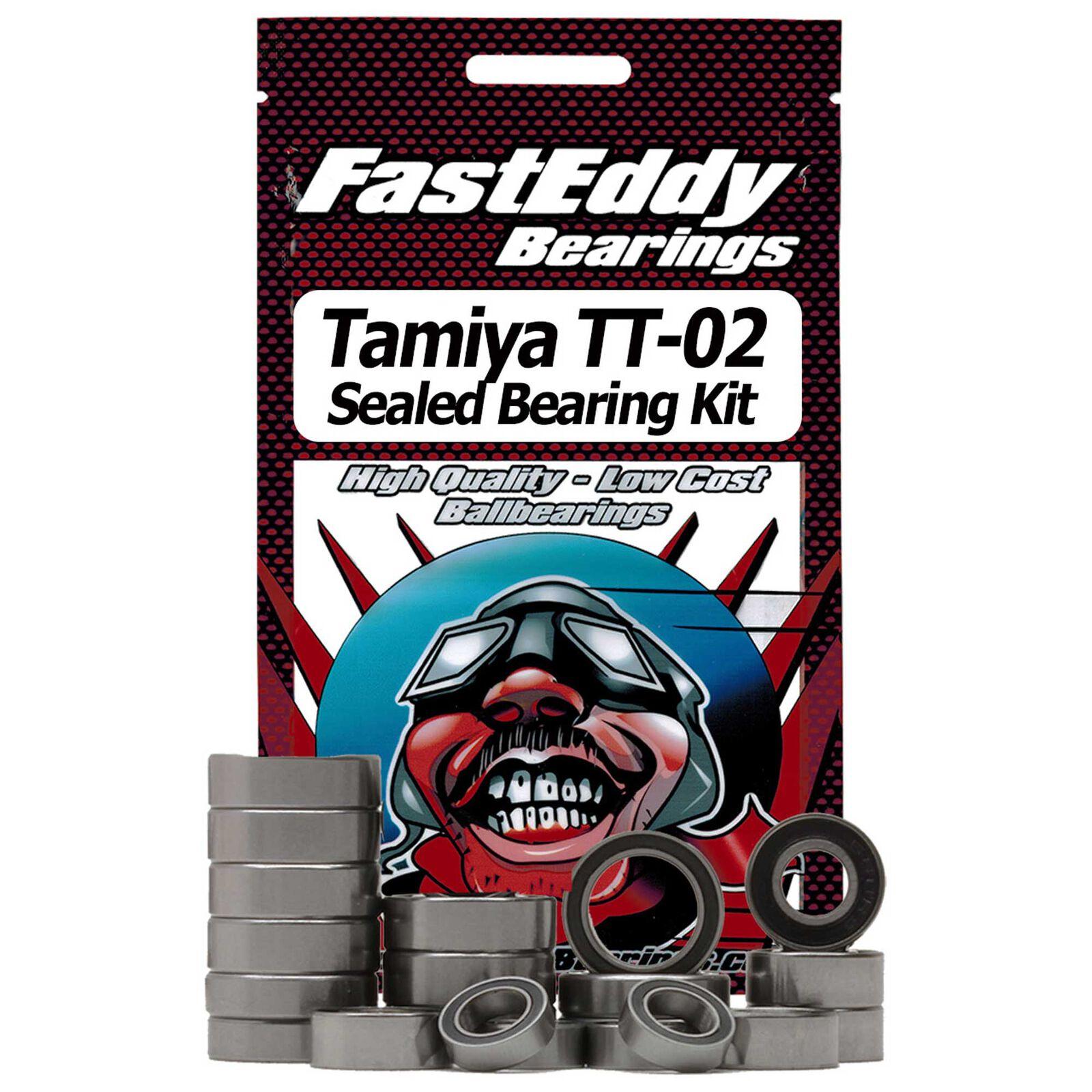 Rubber Sealed Bearing Kit: Tamiya TT-02 Chassis
