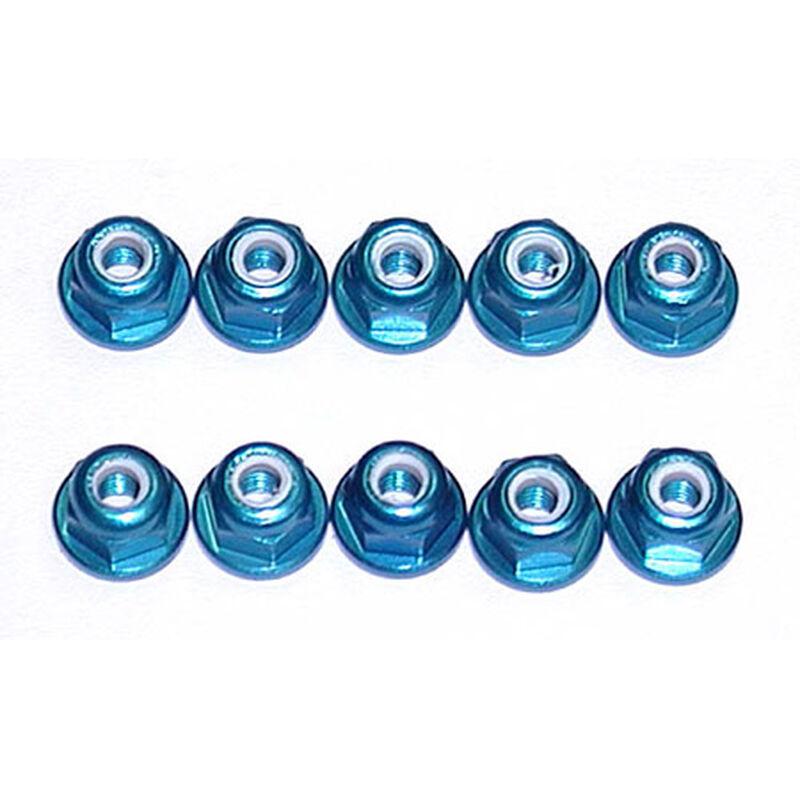 3mm Aluminum Lock Nuts, Blue (10): MGT