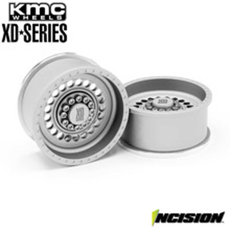 Incision KMC 1.9 XD136 Panzer Clear Anodized Wheels (2)